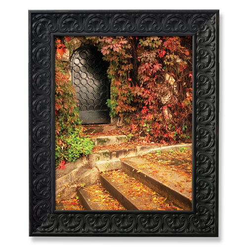 ... Frame : SG11 Black Stone Finish Wood Picture Frame : PictureFrames.com
