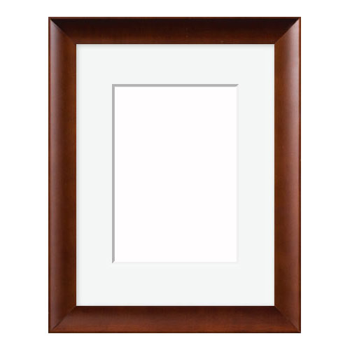 Wood Frame With Mat And Hardware 2ap Walnut Finish Wood