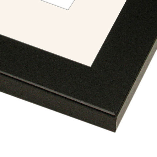 Picture Frame With Mat And Hardware 4ph Black Finish