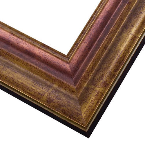 WX546 Antiqued Gold w/ Copper Frame