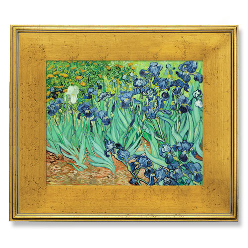 Real Wood Custom Frame Pl7 Gold Plein Air Picture Frame