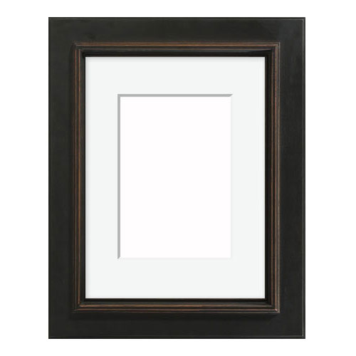 3AP Antiqued Black Frame