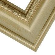 Brushed Gold Frame Corner Detail