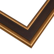 Black and Gold Frame Corner Detail