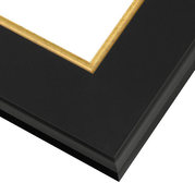 Classic Black and Gold Frame Corner Detail