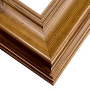 Honey Colored Frame Corner Detail