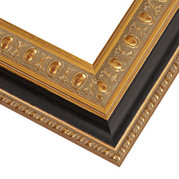 Gold and Black Frame Corner Detail