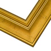 Antiqued Gold Frame Corner Detail