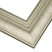Brushed Silver Frame Corner Detail