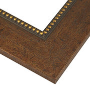 Antiqued Espresso Gold Frame Corner Detail