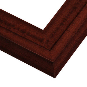 Wide Red Mahogany Picture Frame
