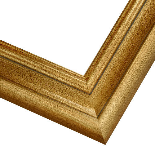 2AN Crackled Gold Frame