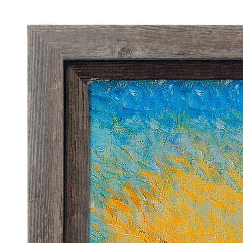 Gray Driftwood Barnwood Canvas Floater Frame - BWF2