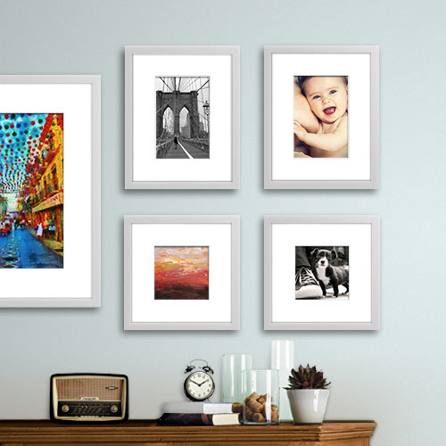 Silver 5-piece Gallery Wall