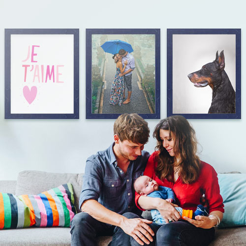 Navy 3-piece Gallery Wall
