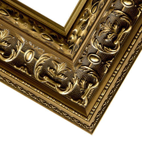 Close up Corner of Gold Ornate Style Picture Frame