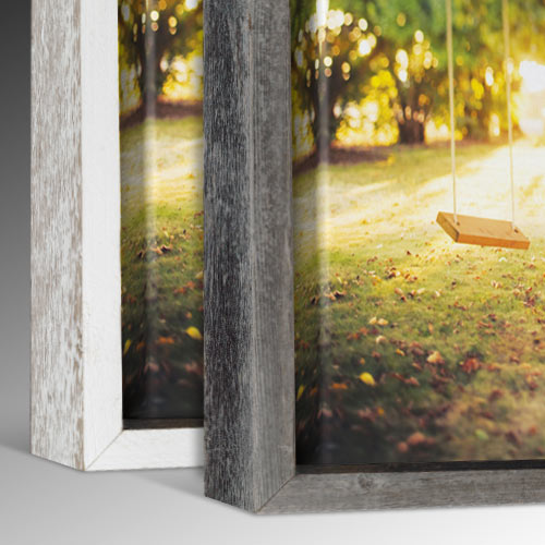 Barnwood Canvas Floater Picture Frame Collection