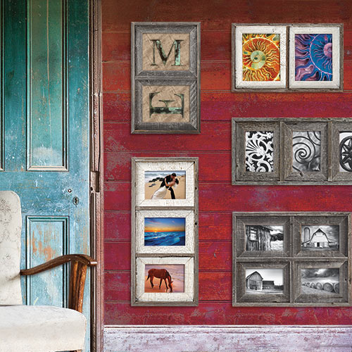 Barnwood Collage Picture Frame Collection