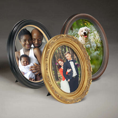 Oval Tabletop Frame Picture Collection