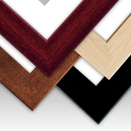 Standard Size Wood Grain Frames | Picture Frames with Mats and ...