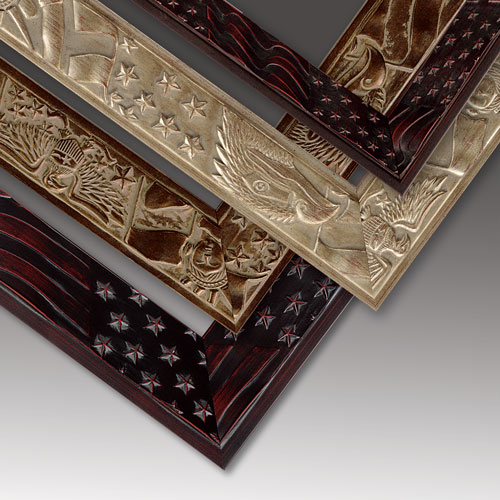 Patriotic American Themed Wood Picture Frames